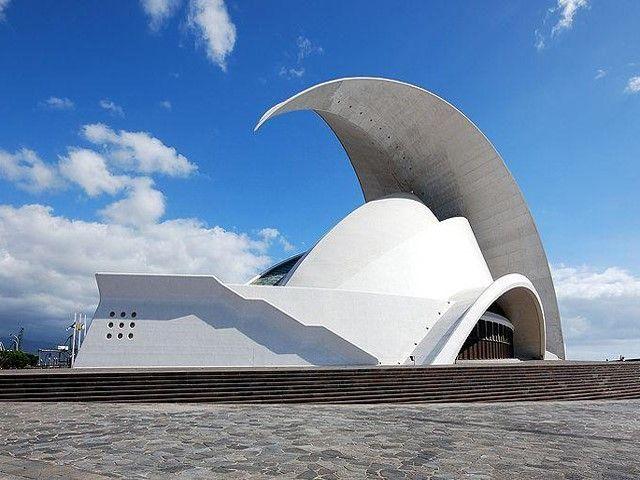 Концертный зал на Канарских островах. Архитектор Сантьяго Калатрава