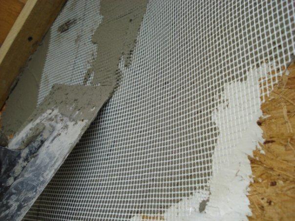 армирование штукатурки стеклопластиковой сеткой