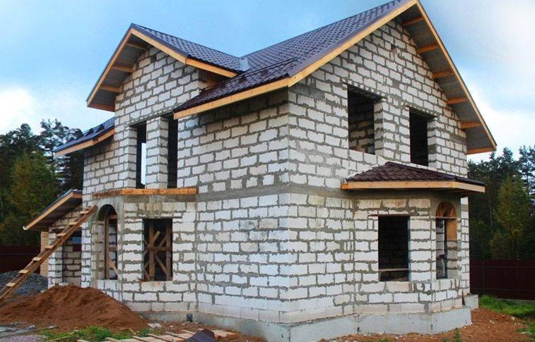 дом из газобетона фото