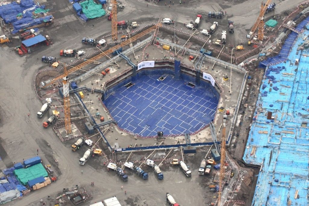 Фото пятиугольного фундамента с официального сайта Лахта центр