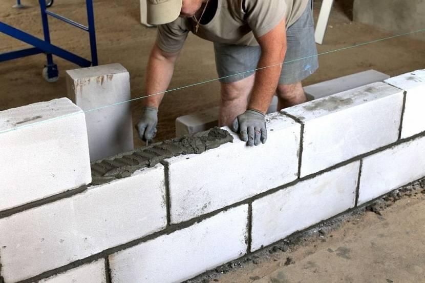 неправильная перевязка стен из газобетона