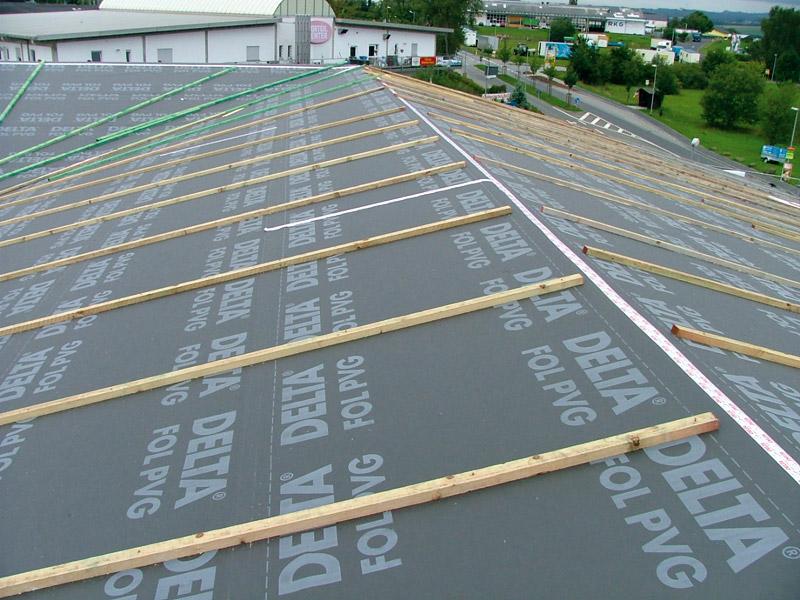 крыша с гидроизоляцией из пленки