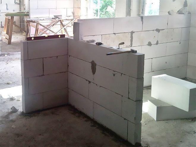 перегородка из газобетонных блоков
