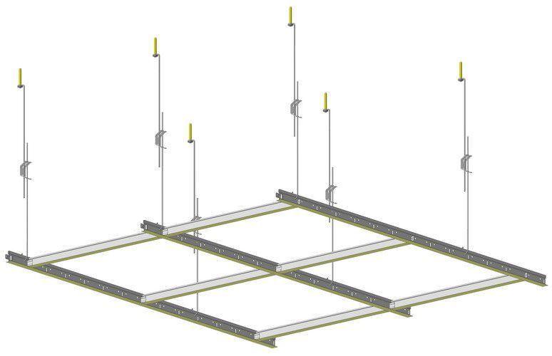 система для потолка армстронг составляющие