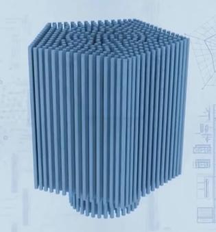 Модель расположения свай в фундаменте. Фото из видеопрезентации