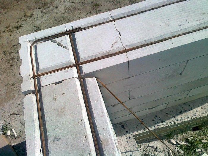 армирование стен из газобетона